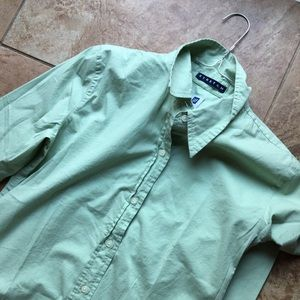 Gap Green Button-Down Dress Shirt